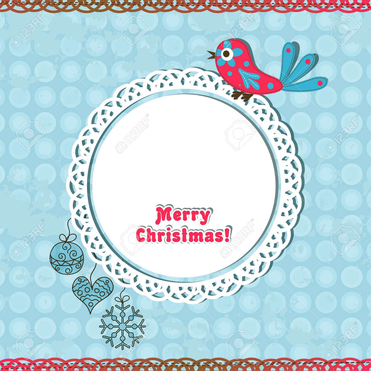 Template christmas greeting card, vector illustration Stock Vector - 16683819
