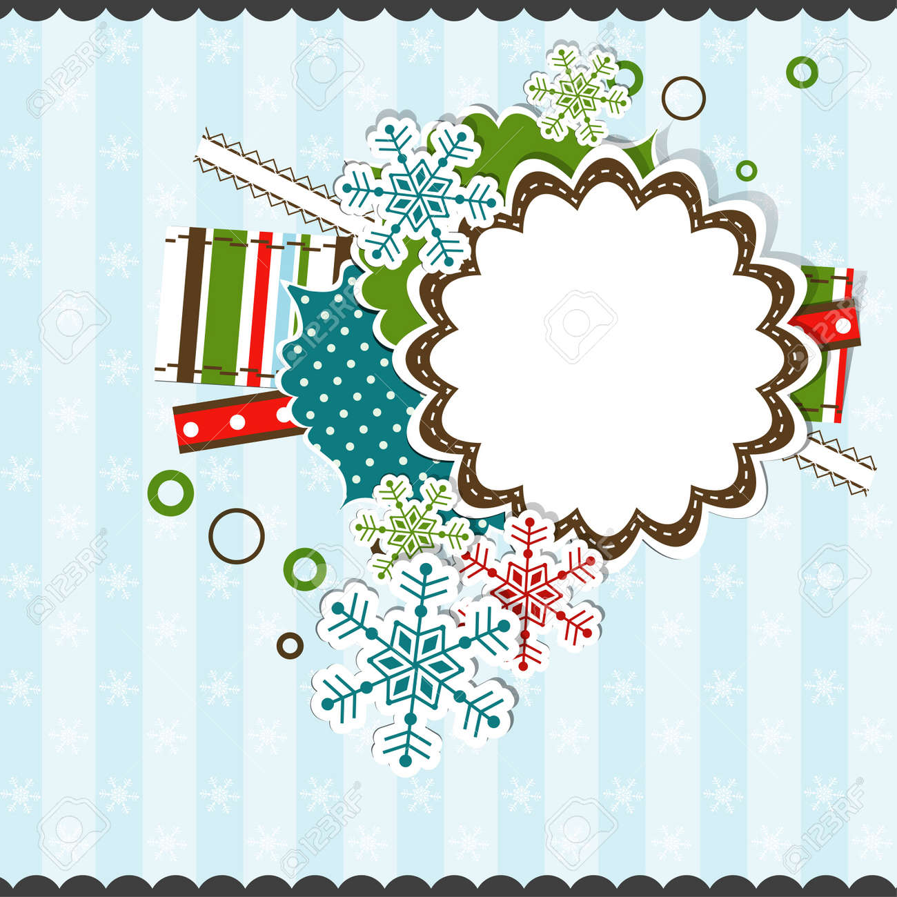 Template Christmas greeting card, vector illustration Stock Vector - 16683838