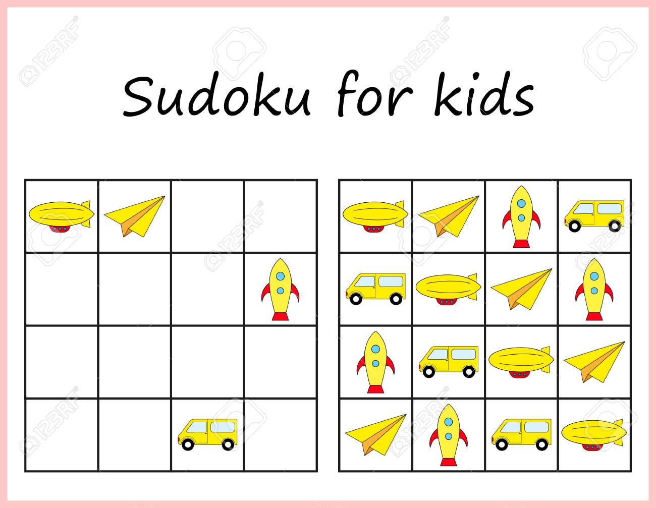 photograph relating to Sudoku for Kids Printable referred to as Sudoku for young children. Match for preschool youngsters, exercising logic. Worksheet..