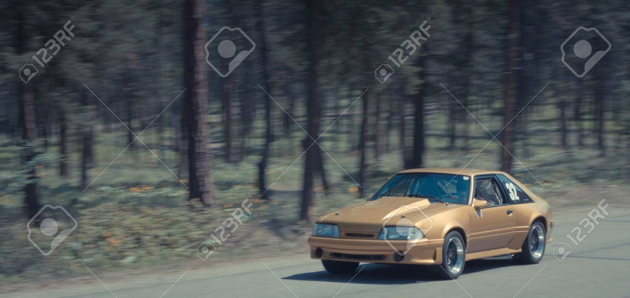 Racing car during the rrally, creative edition Stock Photo - 14001226