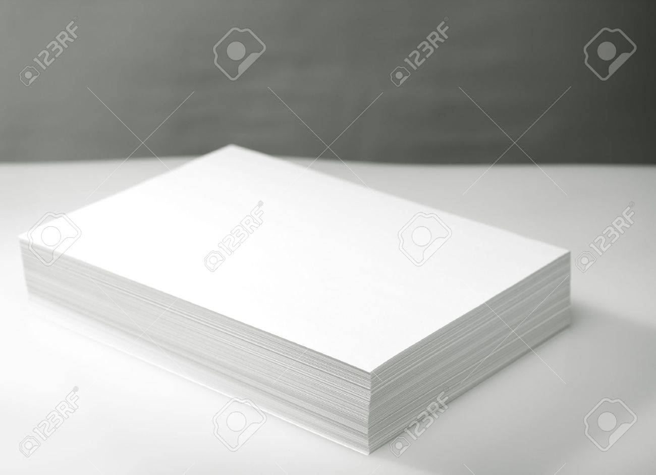 Stack of white printer and copier paper Stock Photo - 12554080