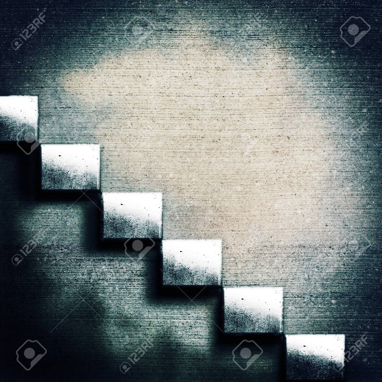 Abstract concrete stairs. Grunge architecture backgrounds Stock Photo - 14267563
