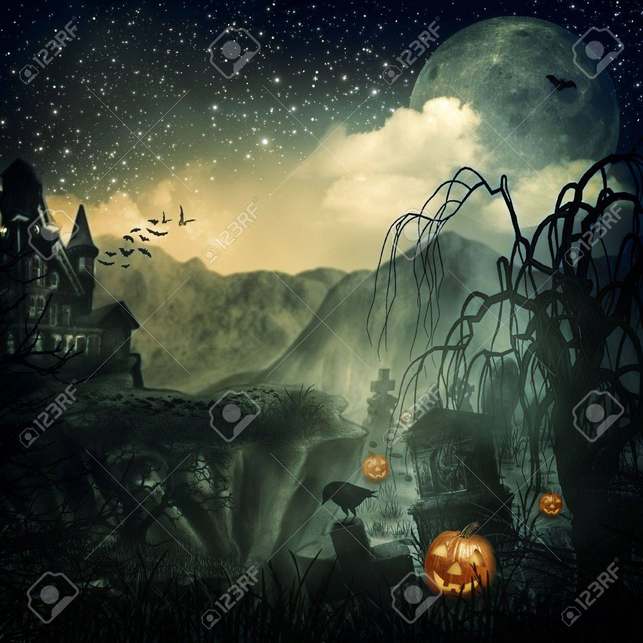Scary Movie  Abstract halloween backgrounds for your design Stock Photo - 16103989