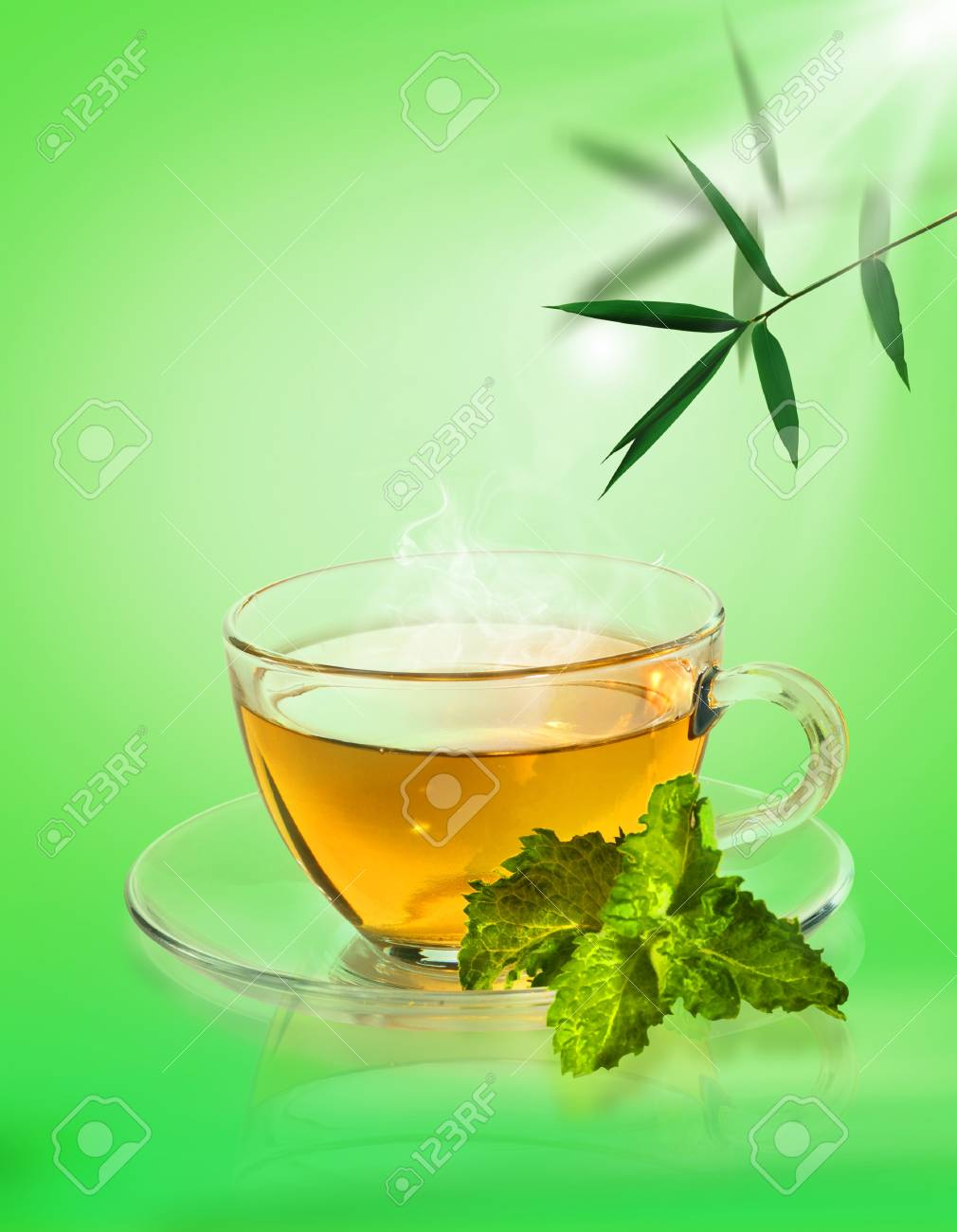 Tea ceremony. Abstract still life over natural backgrounds Stock Photo - 17801061