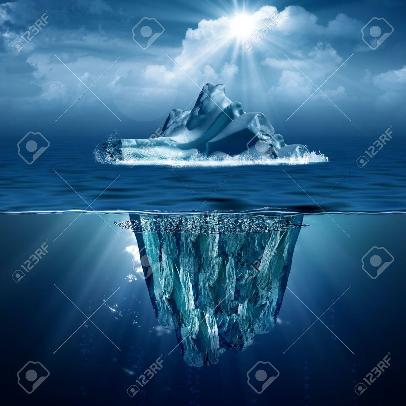 Iceberg. Abstract eco backgrounds for your design - 19023515