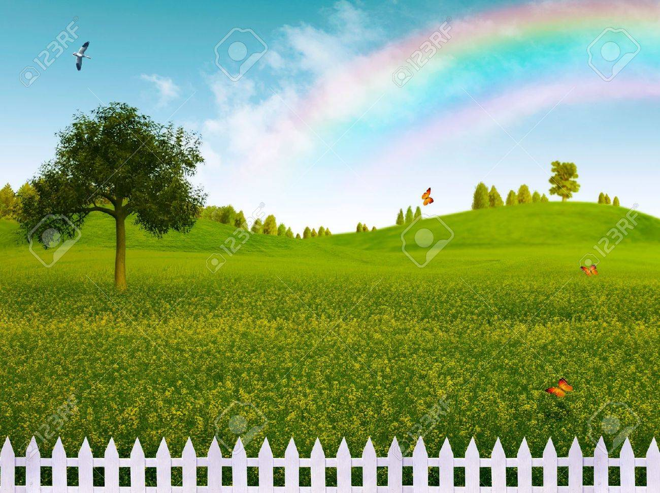 Countryside, abstract natural landscape for your design - 19931473
