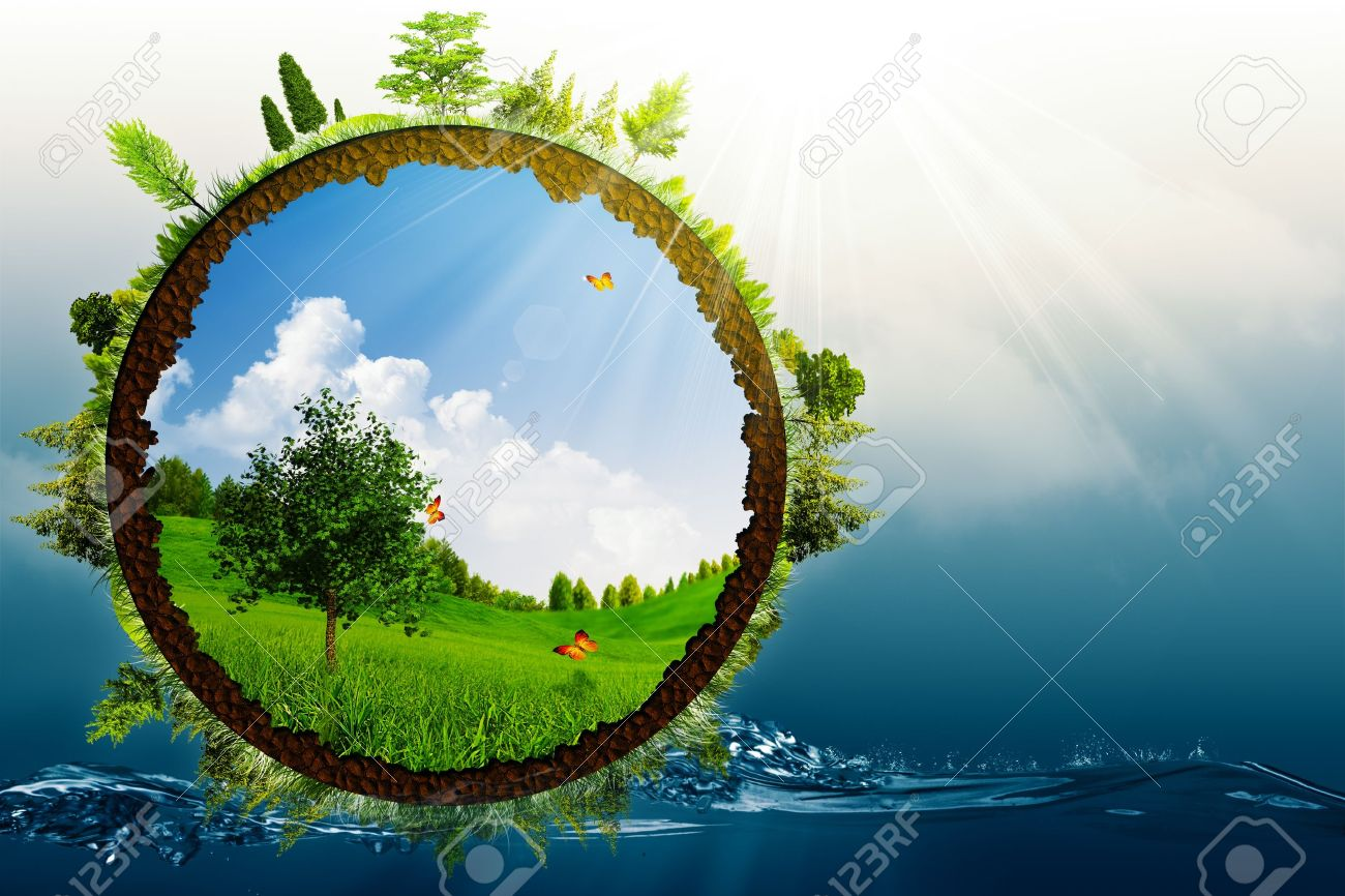 Green World Abstract Environmental Backgrounds Stock Photo Picture