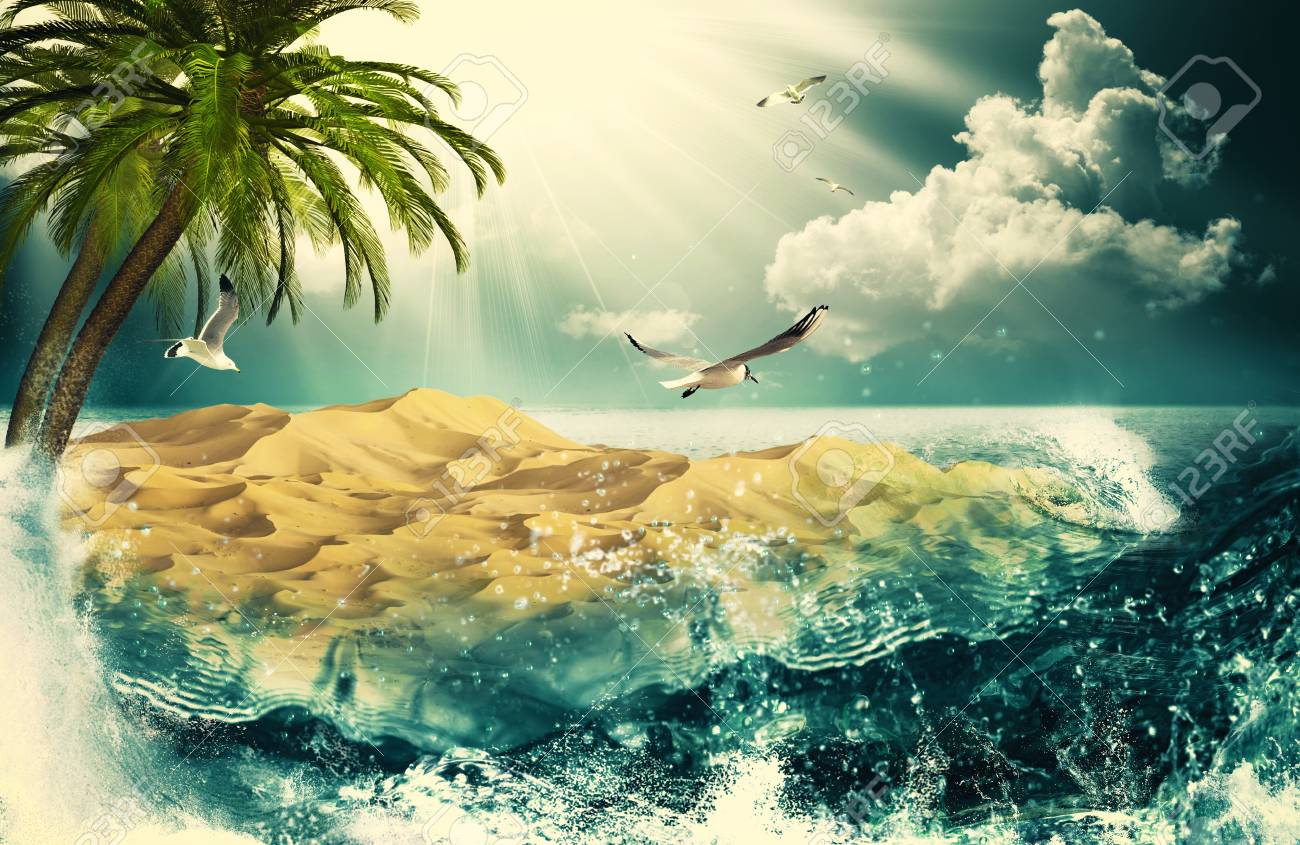 Beauty Ocean, beauty natural backgrounds for your design Stock Photo - 20214503