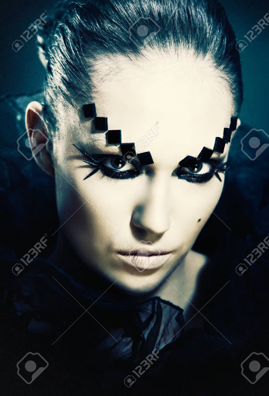 Fashion woman. Grungy female portrait with copy space Stock Photo - 22427964