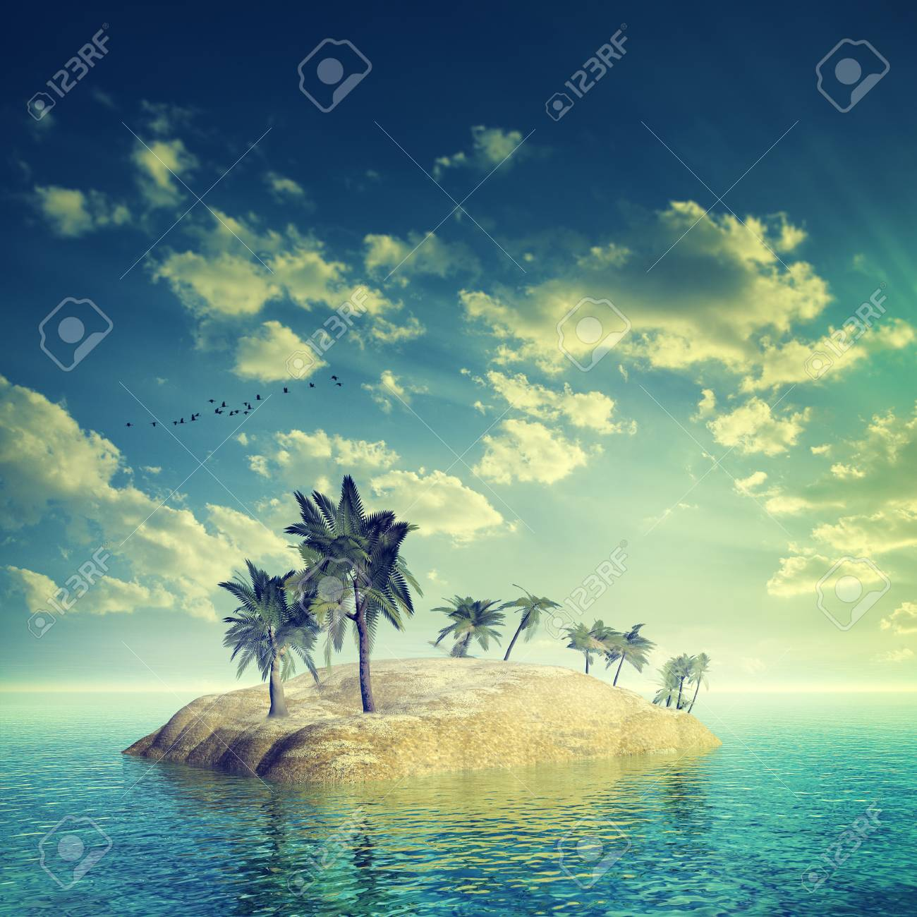 tropical paradise, abstract summer vacation backgrounds stock photo