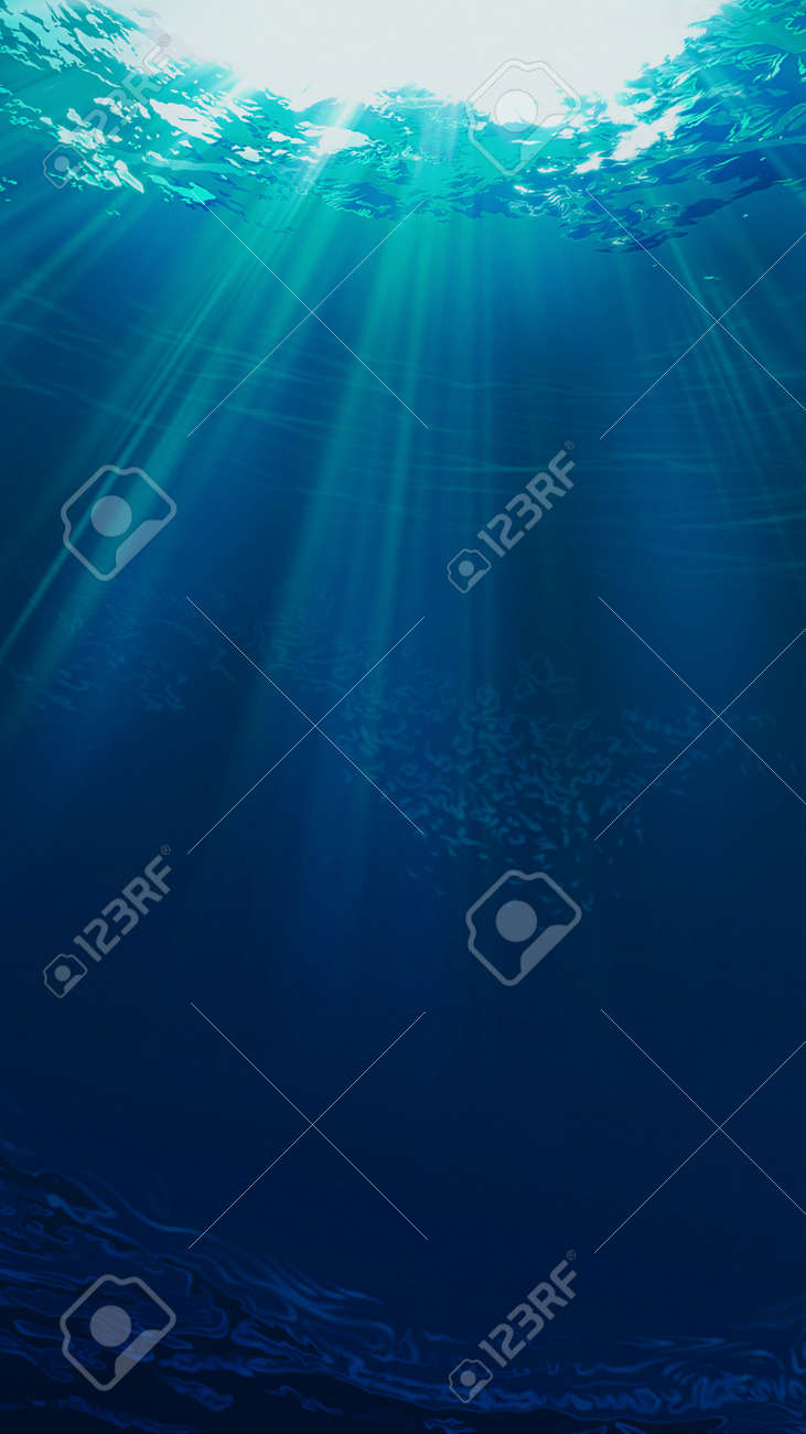 Deep blue sea. Underwater backgrounds for your design - 159256721