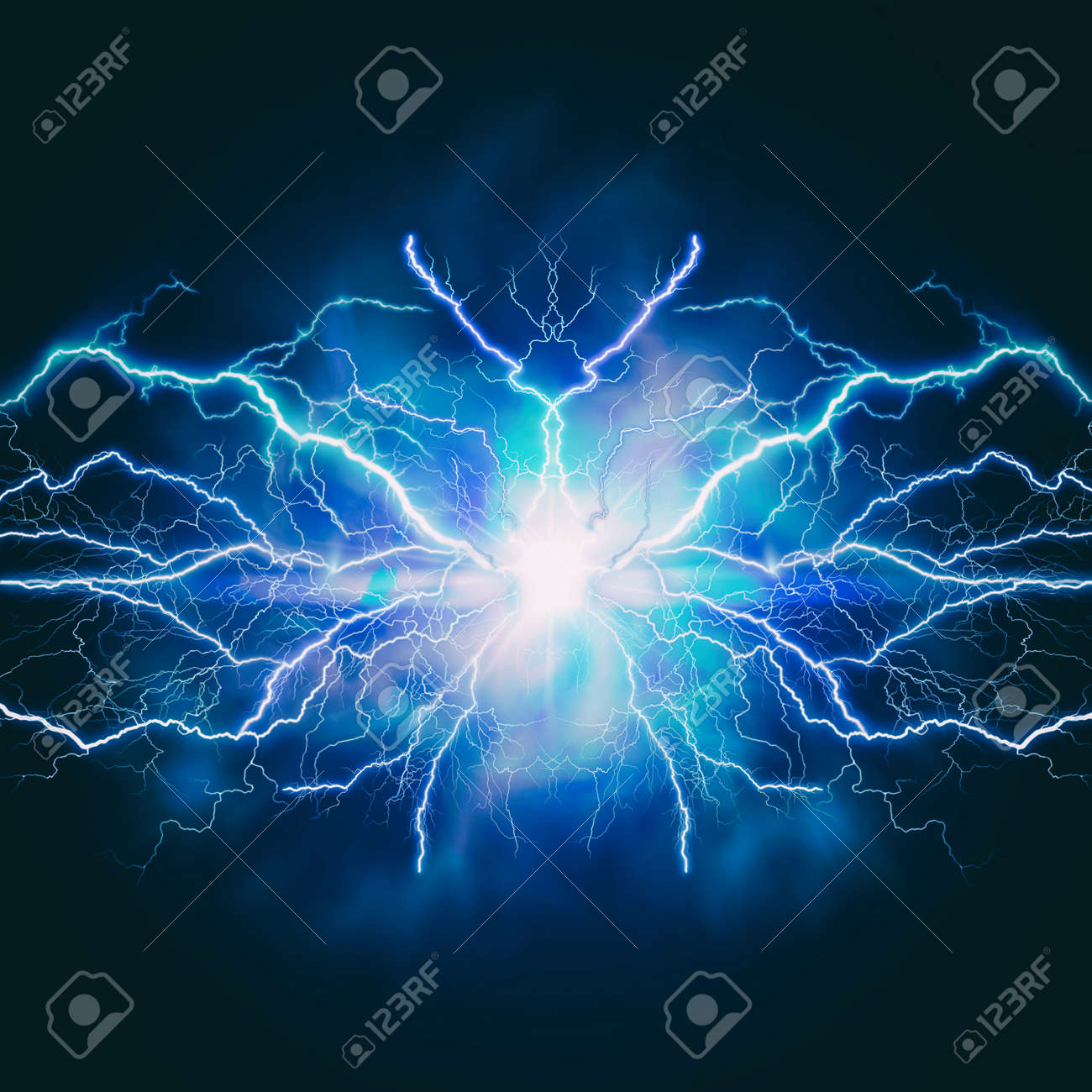 High voltage electric bolt. Teleport flash. Abstract power and energy backgrounds - 159256959