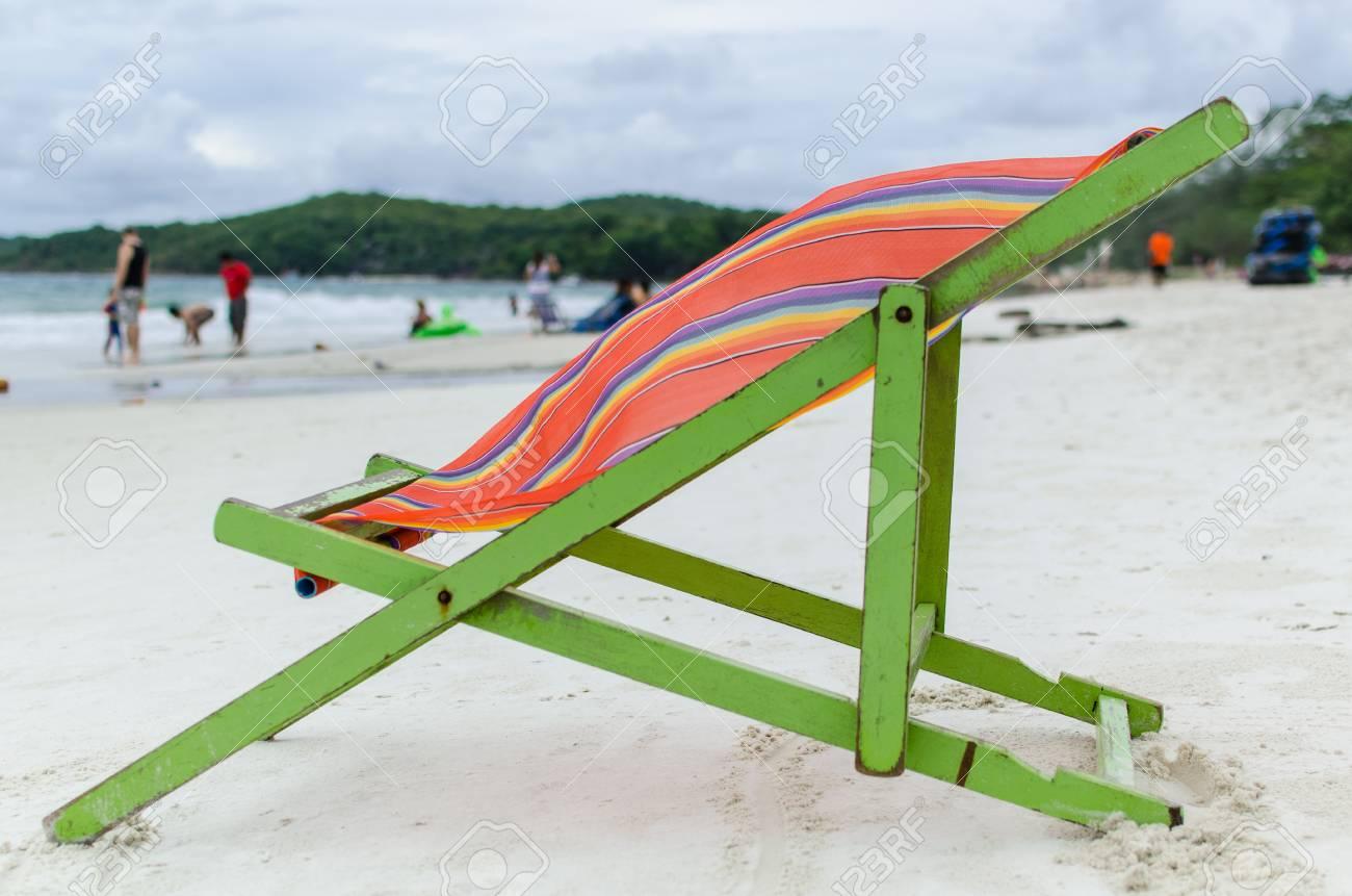 Chair in Samed island beach, Thailand Stock Photo - 13966260