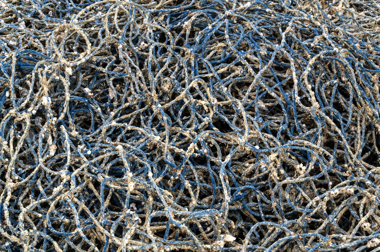 Pile of fishing nets on the beach, Thailand Stock Photo - 21521143