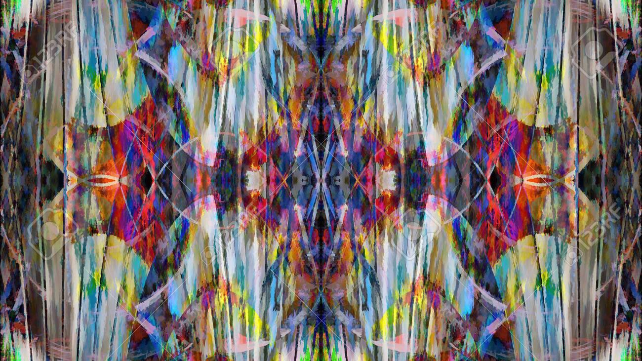 farbiges muster auf hintergrund des blauen hintergrundes moderne futuristische gemalte wand fr hintergrund oder tapete - Muster Fur Wand