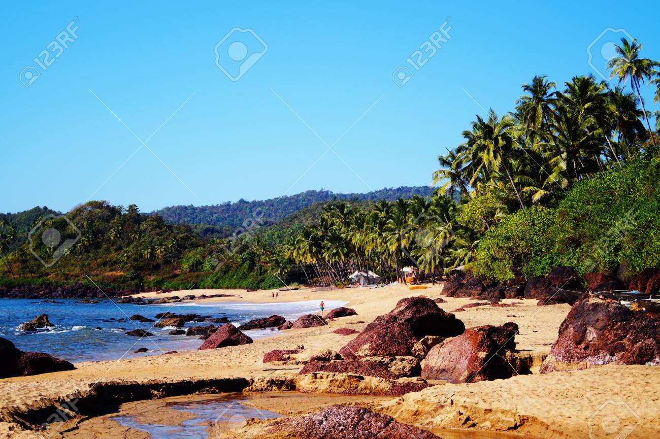 One of the best beaches in Goa - Cola beach  Quiet place for