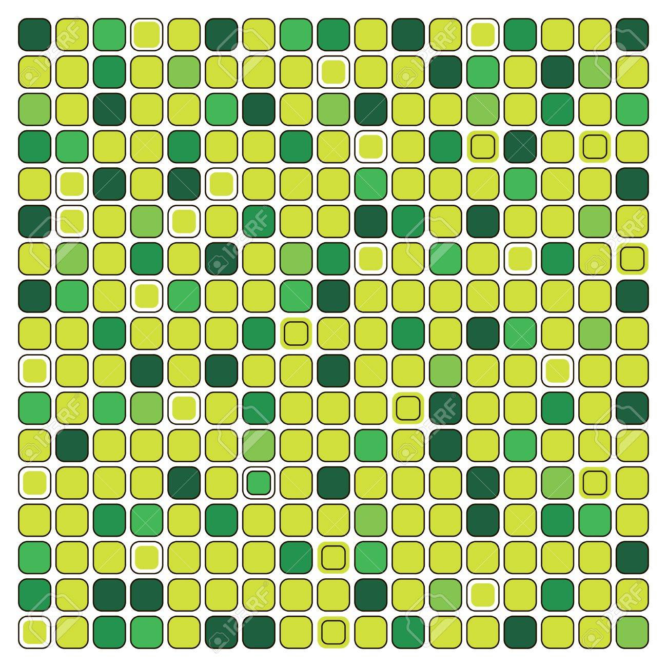 the different shades of green background mosaic stock photo