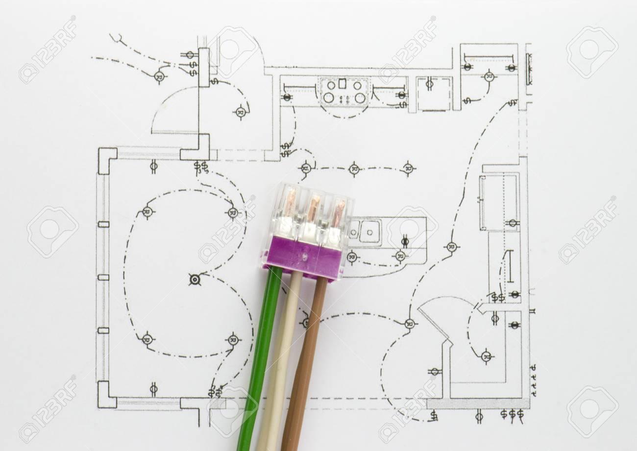 Schema Elettrico : Immagini stock il cablaggio del connettore è lo schema elettrico