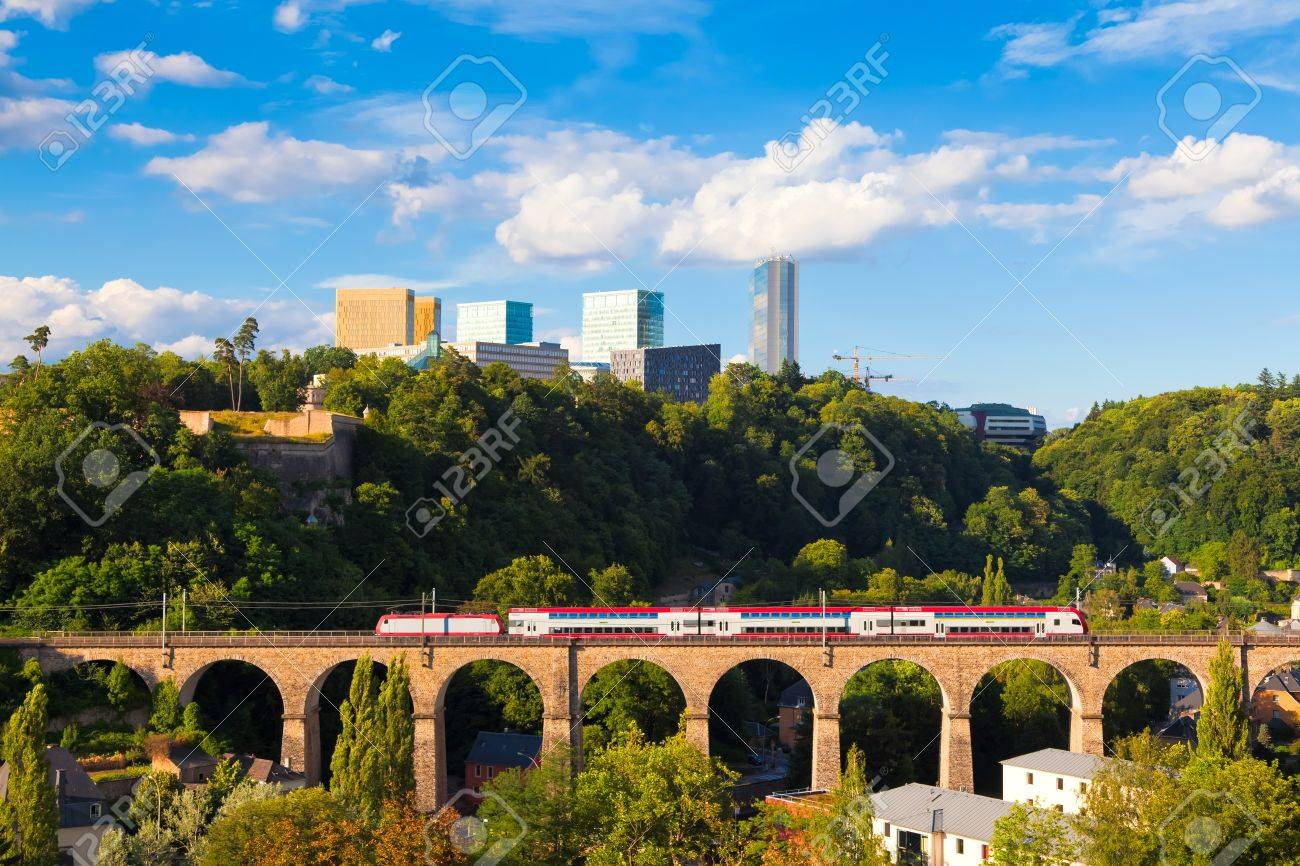 Kirchberg - a quarter in north-eastern Luxembourg City, home to various European Union institutions Stock Photo - 10249488