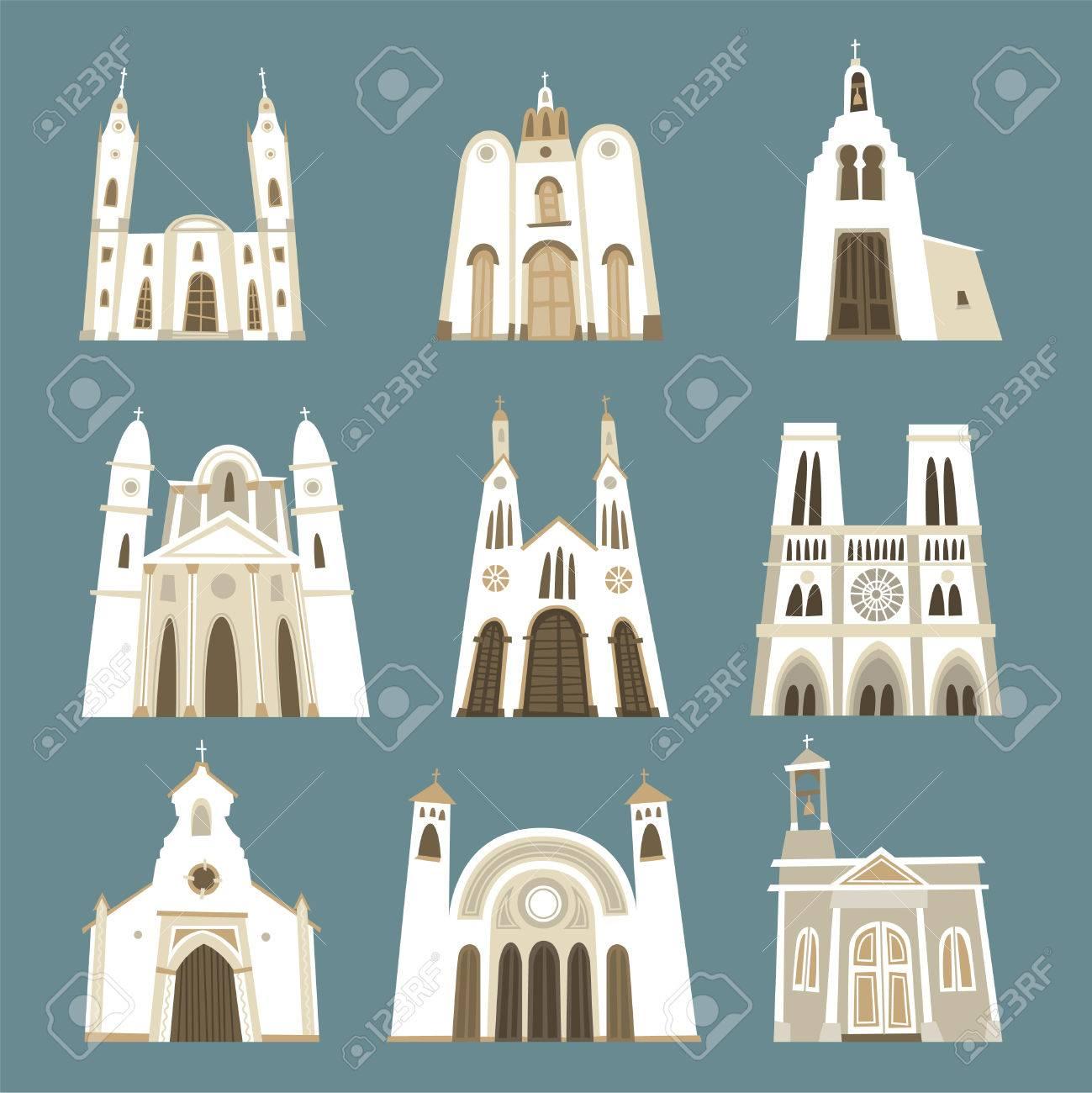 教会カトリック聖堂礼拝堂チャペル教会聖域フロント ビュー コレクション