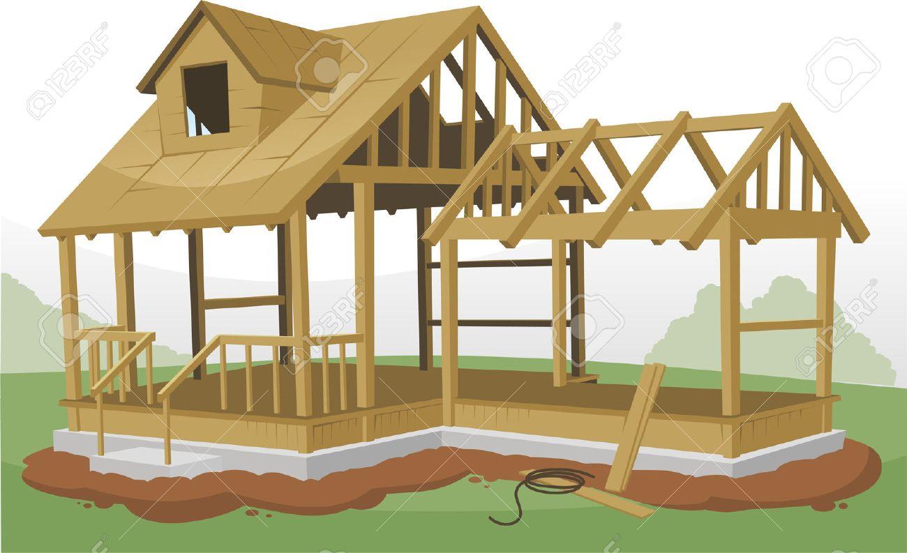 Estructura Principal De Construcción Encuadre, Ilustración Vectorial ...