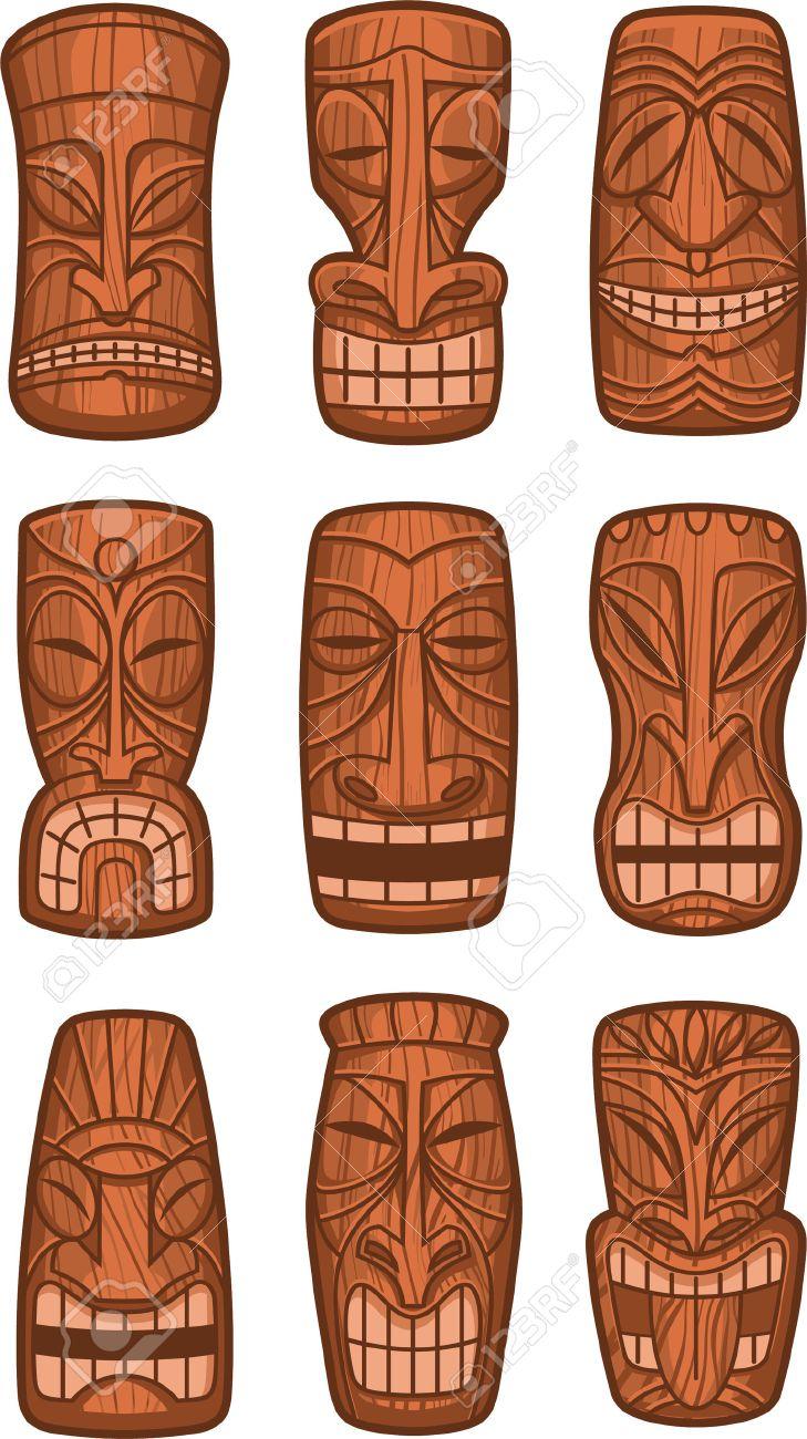 Hawaiian tiki god statue carved polynesian tikki ku lono wood vector hawaiian tiki god statue carved polynesian tikki ku lono wood vector illustration imagens 33743575 stopboris Images