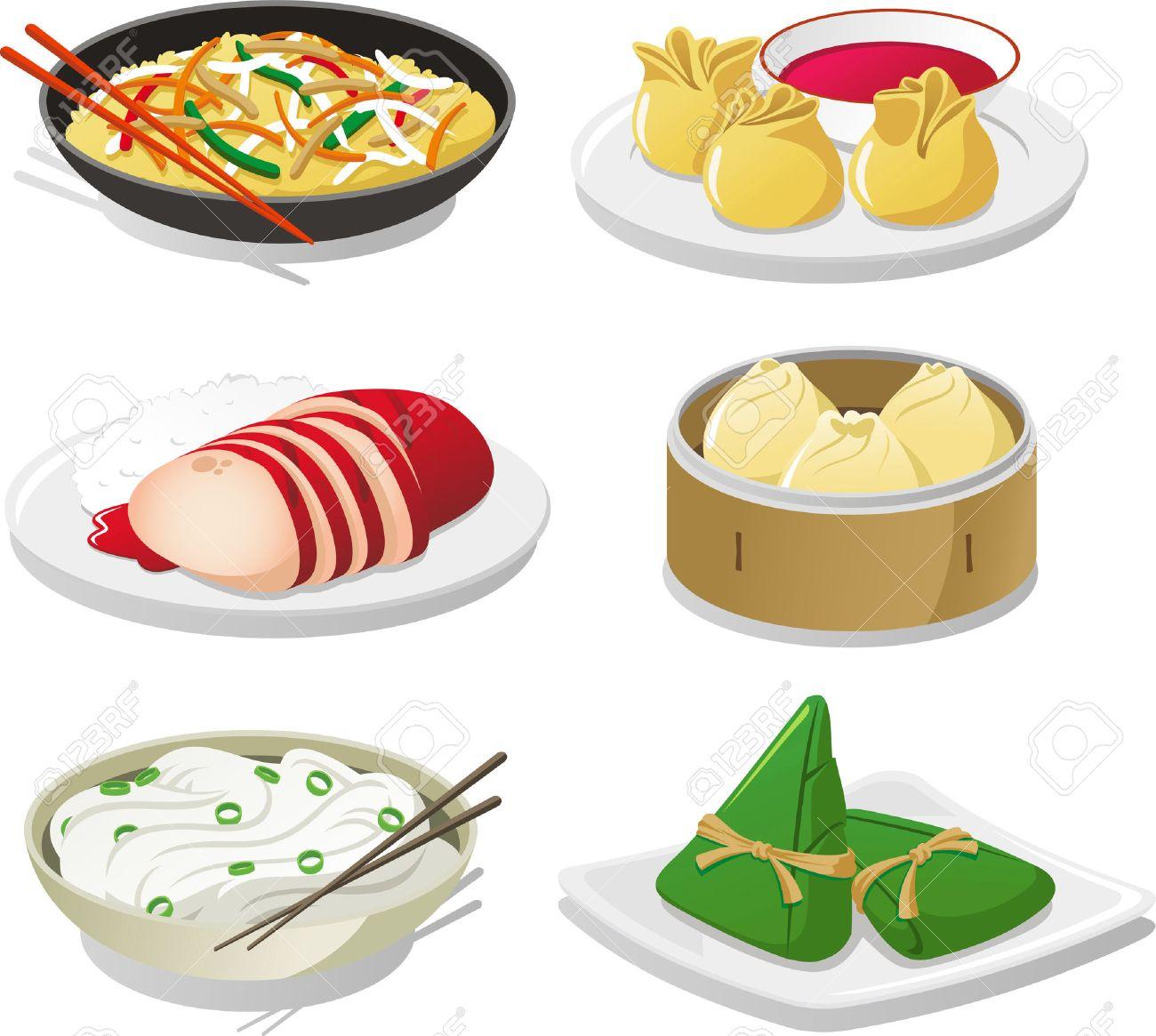 中華料理イラスト アイコンのイラスト素材ベクタ Image 33787617