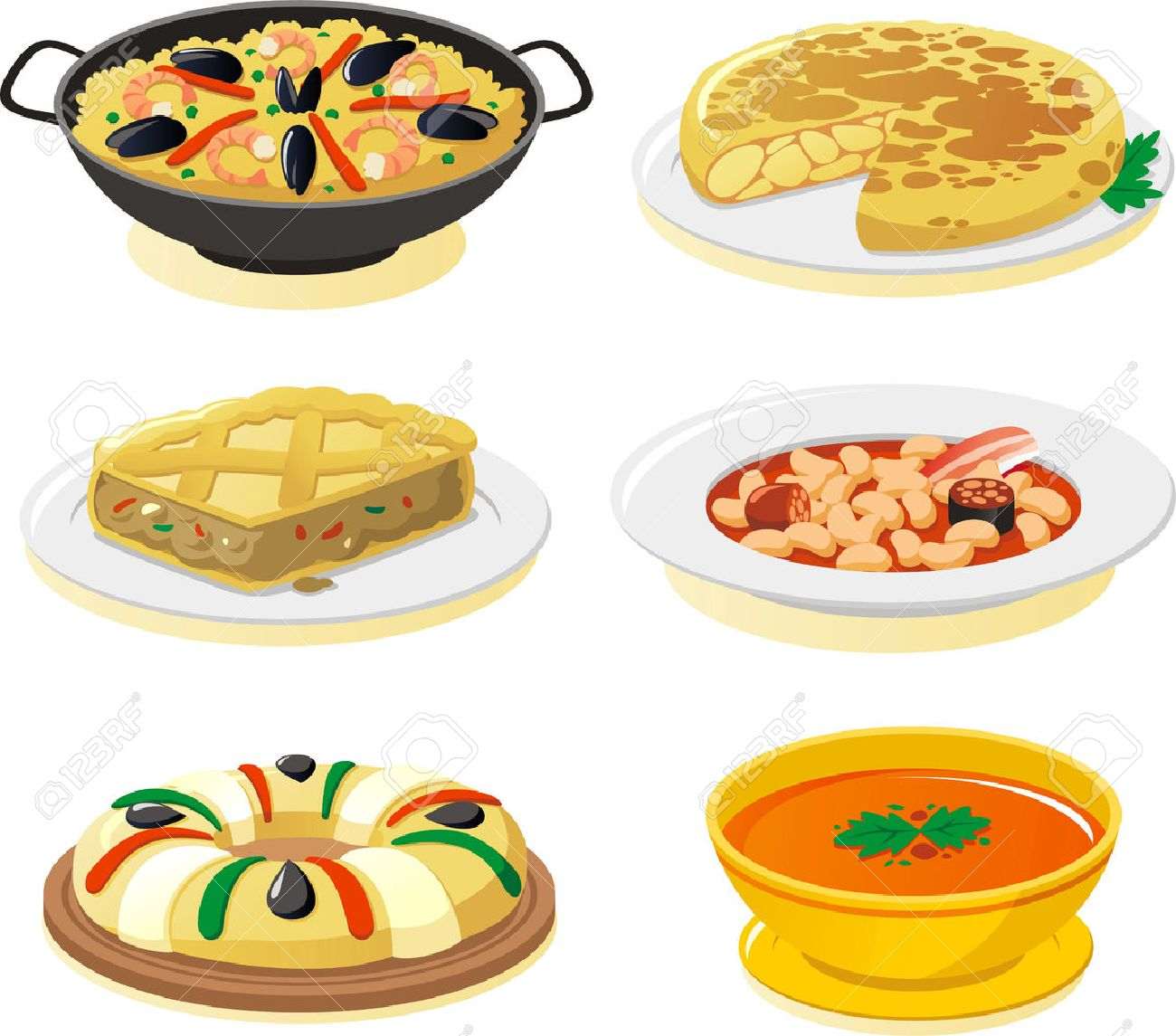1,800 Spanish Food Stock Illustrations, Cliparts And Royalty Free ...
