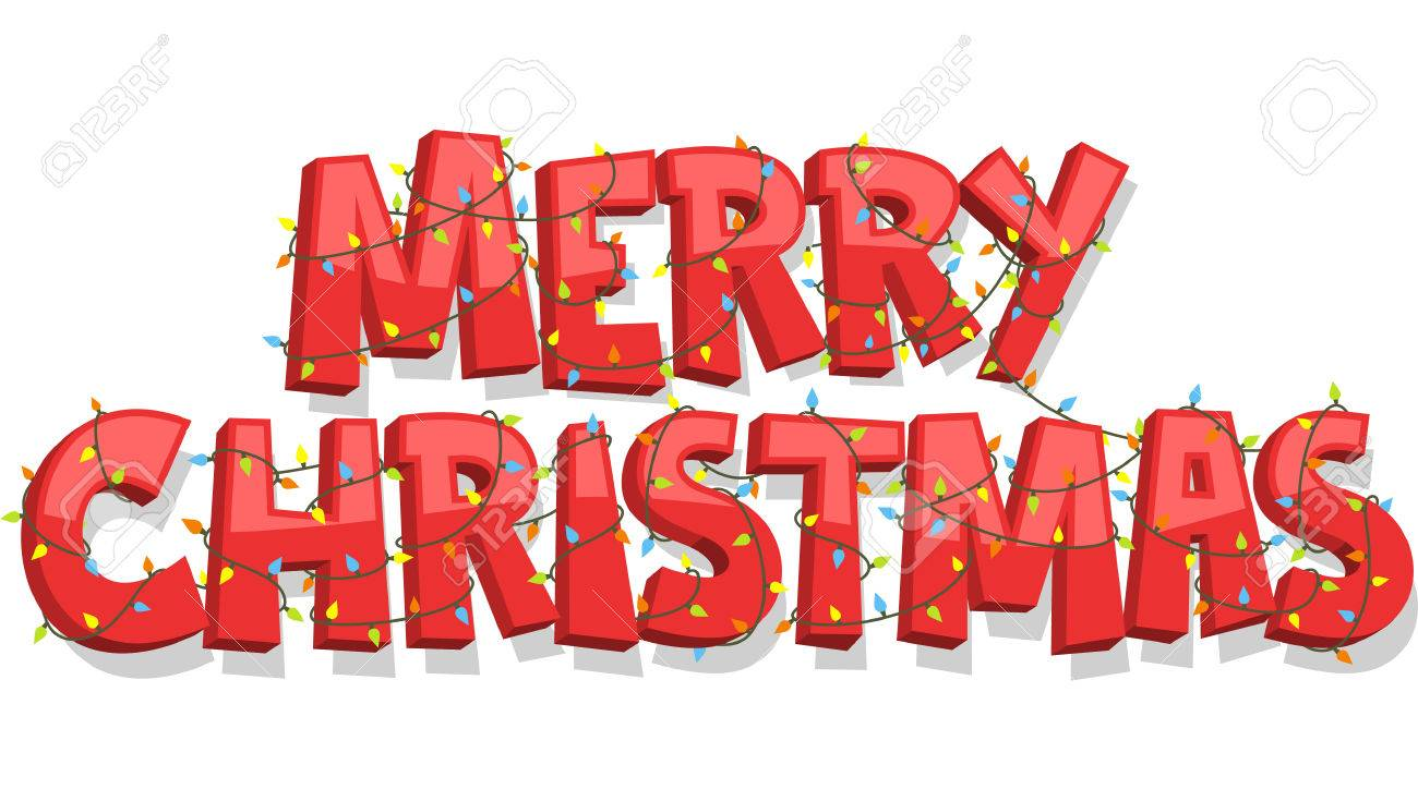 merry christmas banner sign vector illustration cartoon stock vector 33788779