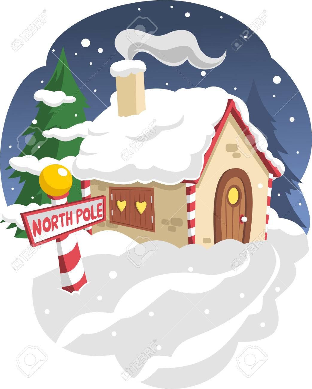 Santas House In The North Pole Royalty Free Cliparts Vectors And Stock Illustration Image 33789007