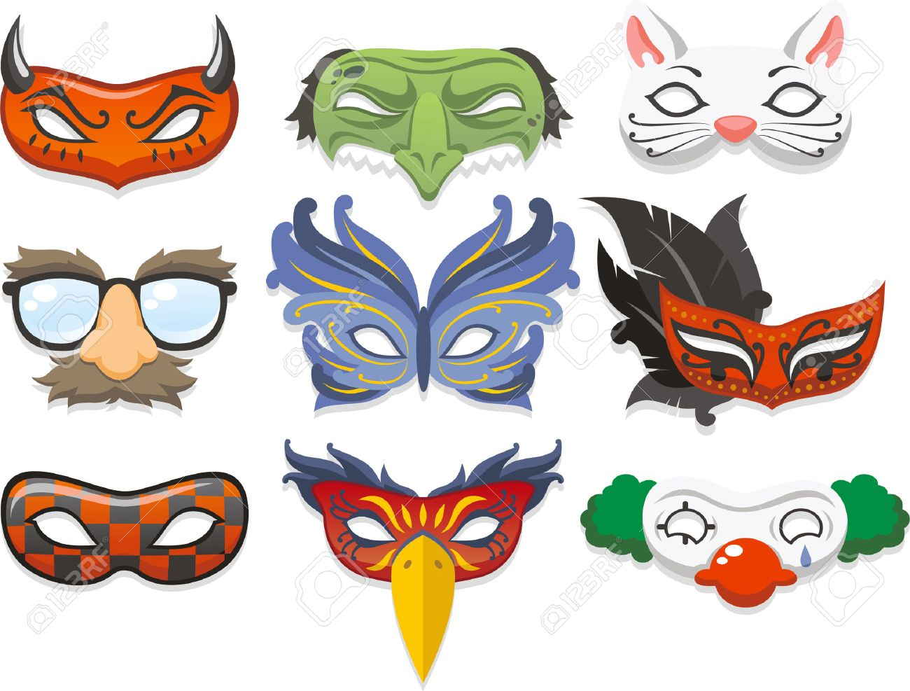 halloween costume dessin anim illustration masque ic nes clip art rh fr 123rf com
