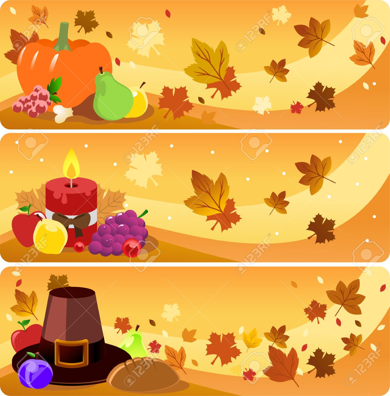 Thanksgiving Day Banner Illustrations Royalty Free Cliparts ...