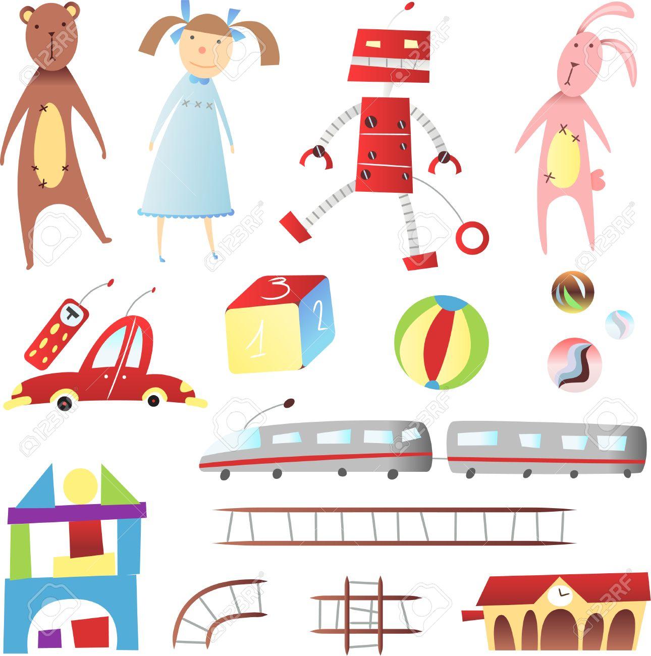À De VoitureDésTrainBallon Illustration Distance Jouets Maison OursPoupéeRobotLe LapinContrôle Enfants Bande AnciensAvec Et JTF15Kulc3