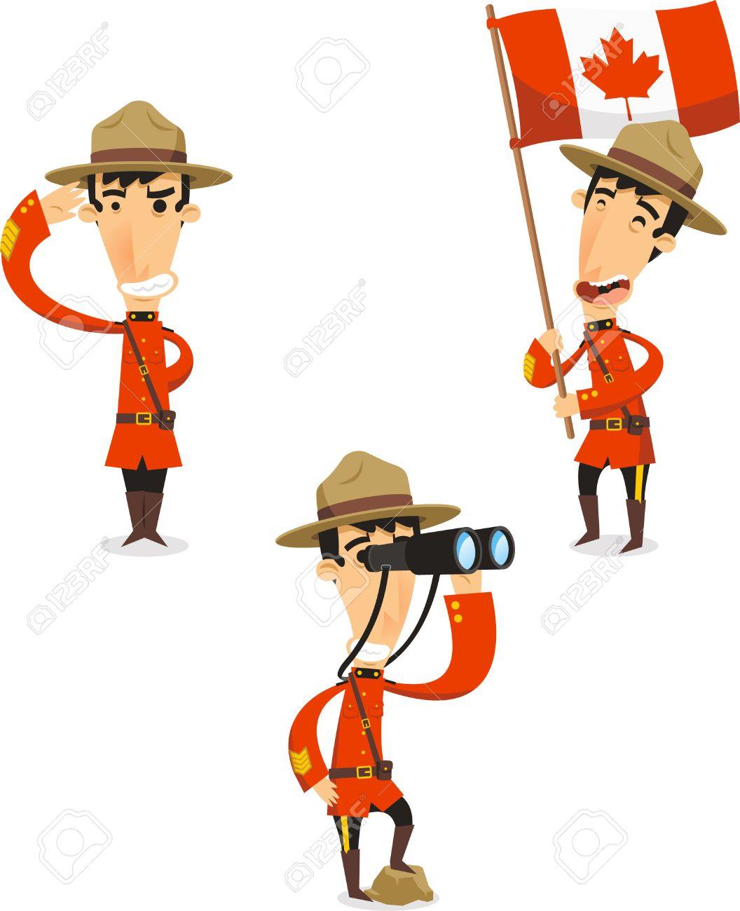 カナダ レンジャー漫画イラストのイラスト素材ベクタ Image 33953599