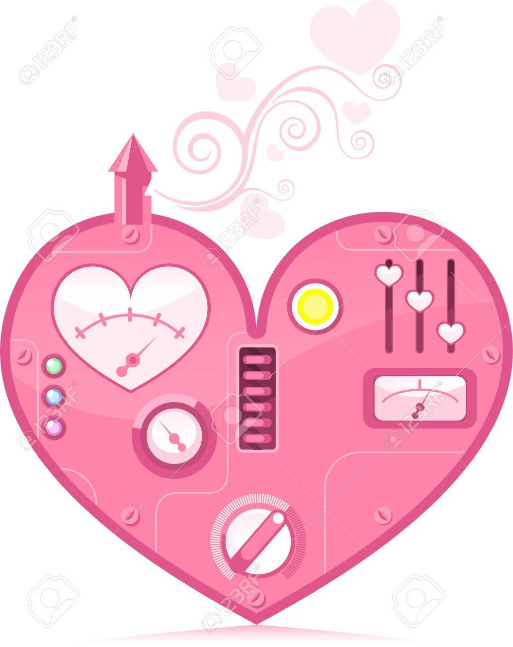 Cute pink loving heart machine expressing love vector illustration cute pink loving heart machine expressing love vector illustration stock vector 33983328 buycottarizona Images