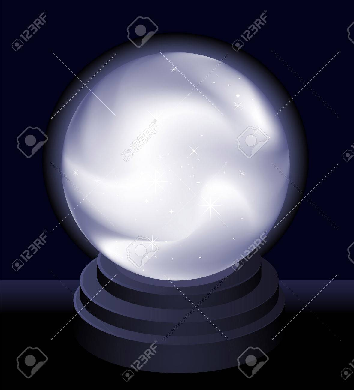 Magic Crystal Ball Fortune teller vector illustration