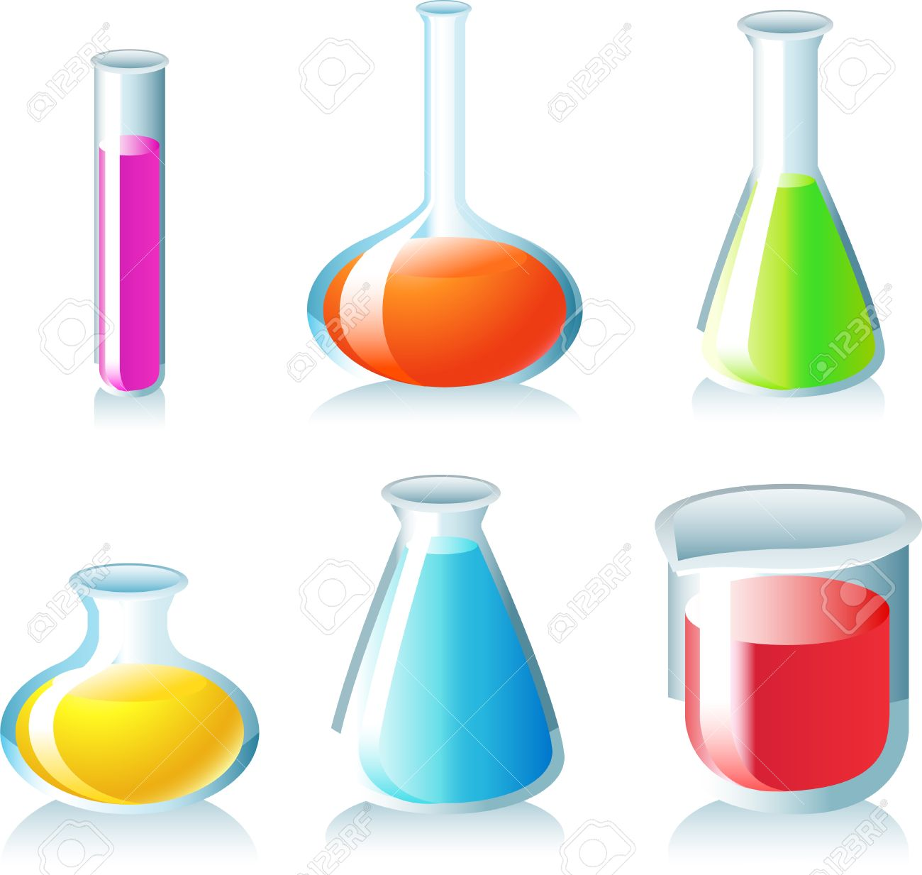 test tubes with chemicals in it