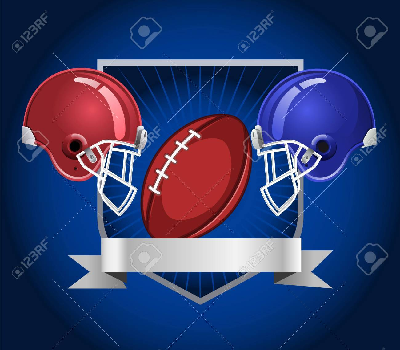 Football Helmets Blue Background Royalty Free Cliparts Vectors And Stock Illustration Image 34235095