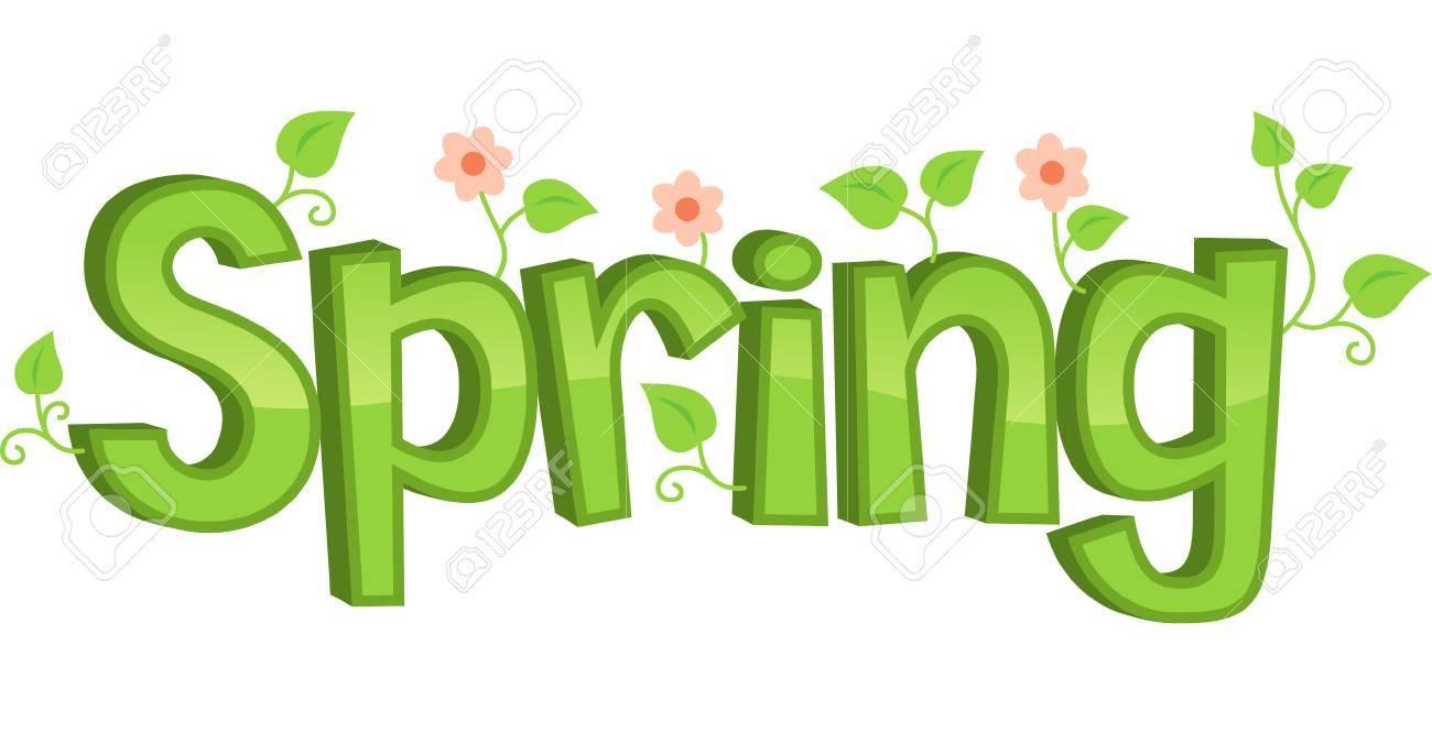 Spring Flowers Banner Vector Illustration Cartoon Royalty Free