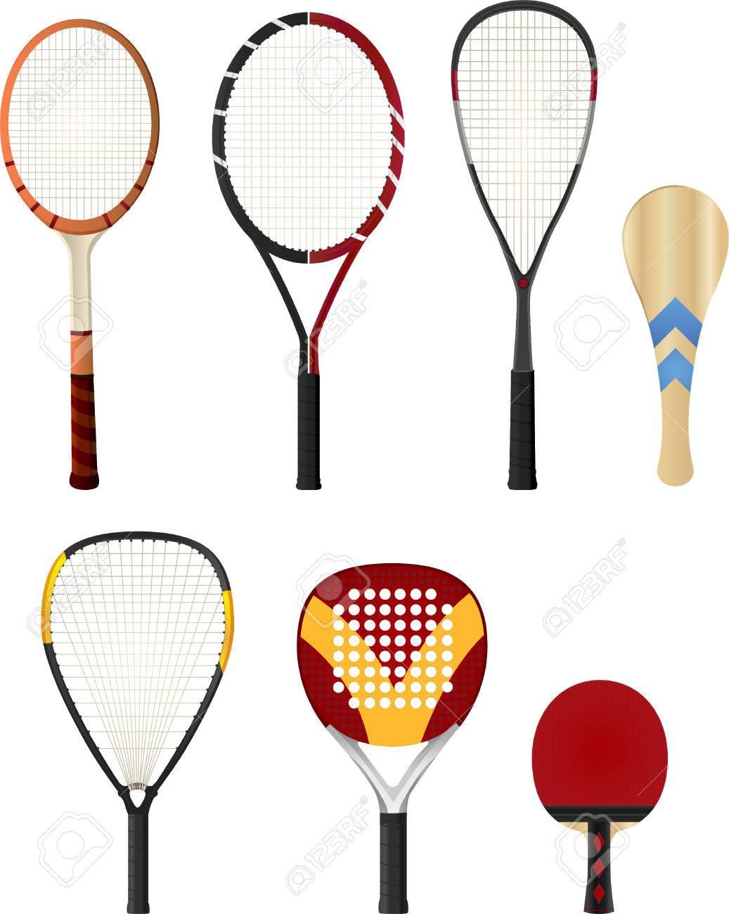 Raquetas De Color Silueta, Con Raqueta De Tenis, Raqueta De Squash ...