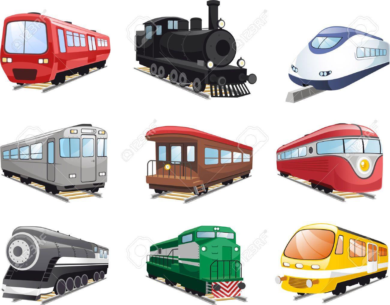 Train Engine Cartoon Illustrations Royalty Free Cliparts Vectors