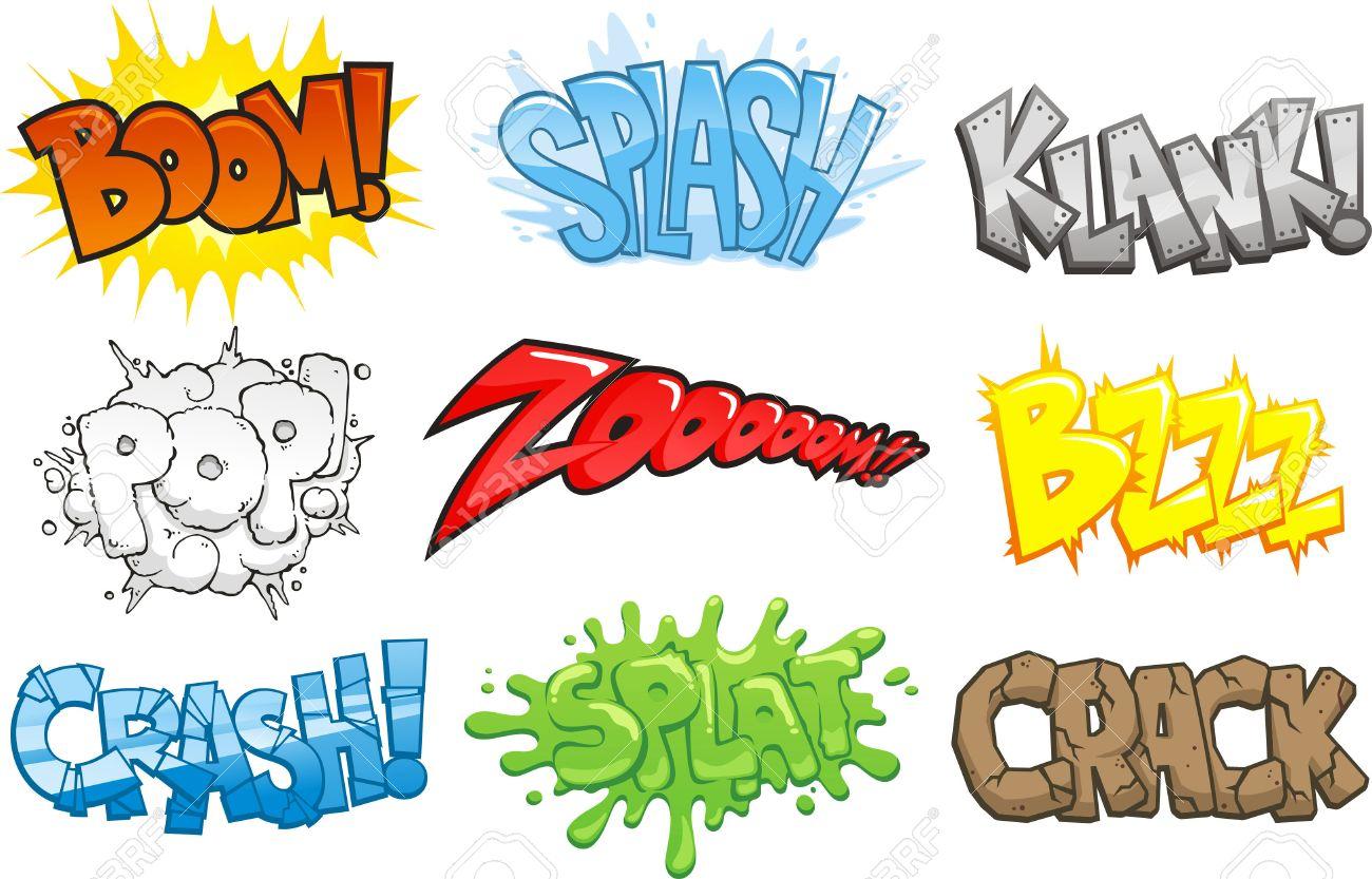 漫画本漫画の効果音オノマトペベクトル イラスト漫画ブーム