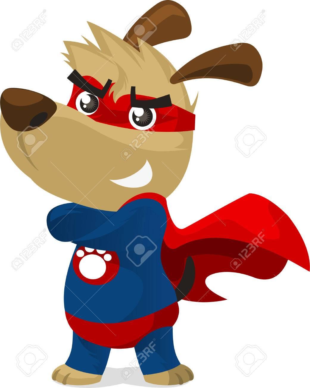 Chien Super Héros En Costume De Super Héros Avec Des Pouvoirs Pow