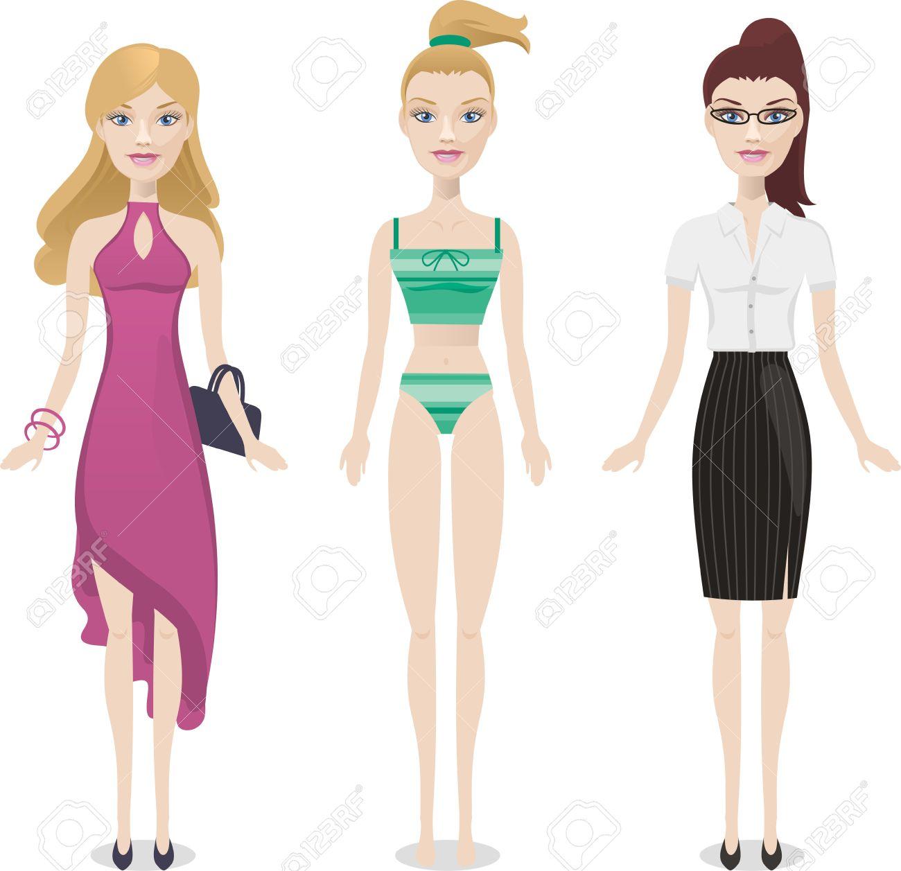 Muñecas De Moda De Dibujos Animados