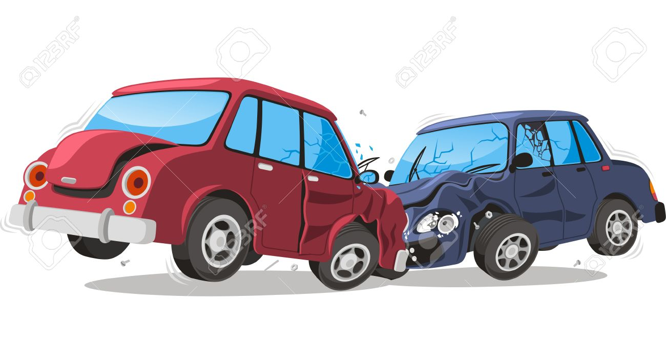car crash cartoon illustration royalty free cliparts vectors and rh 123rf com cartoon car crash pictures cartoon car crash game