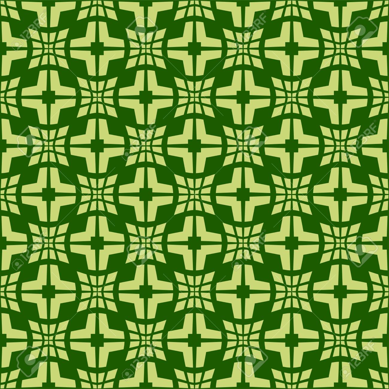 Light green pattern on dark green background. Seamless stylish texture. Creative abstract vector. - 120846257