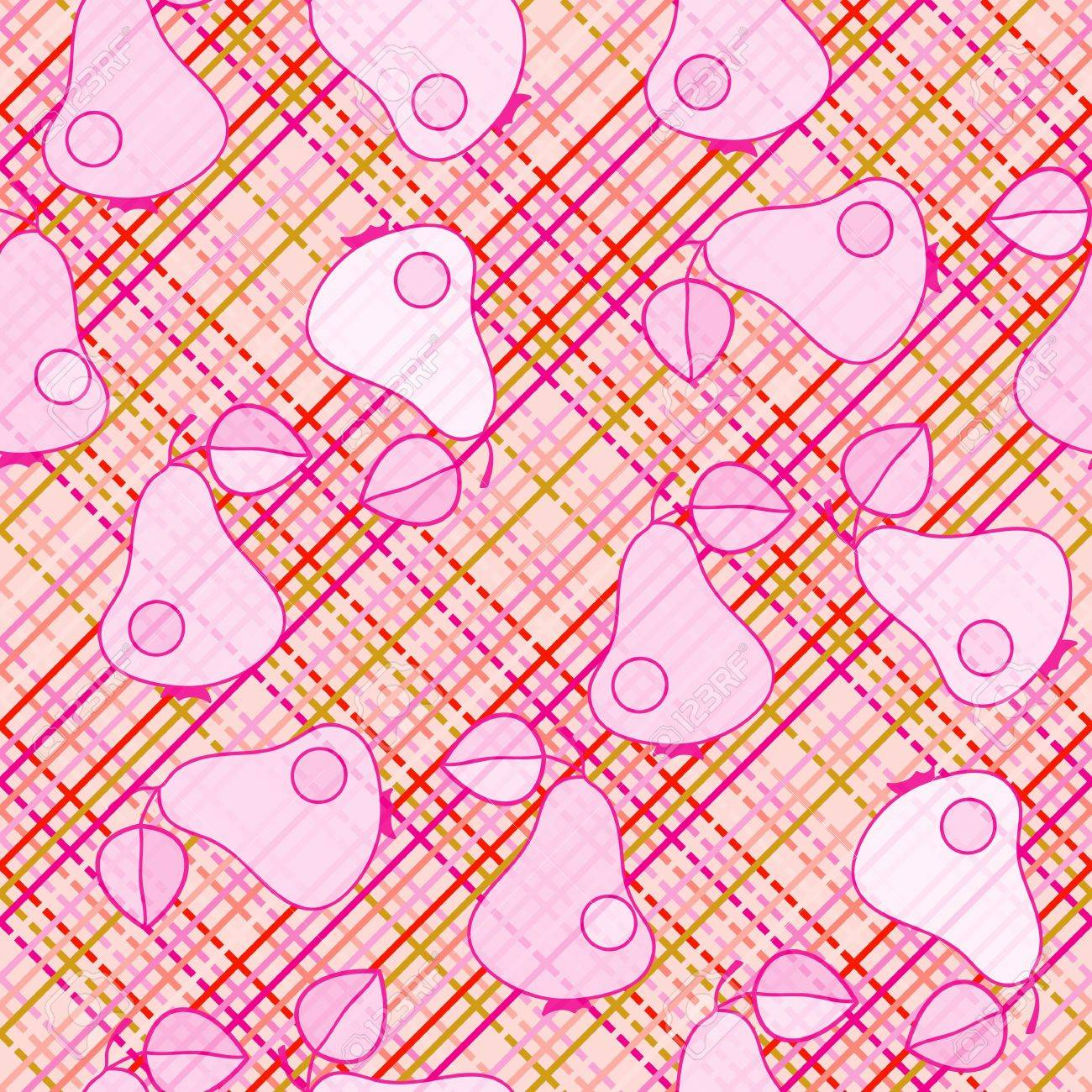 pink pear - seamless wallpaper Stock Vector - 10336035
