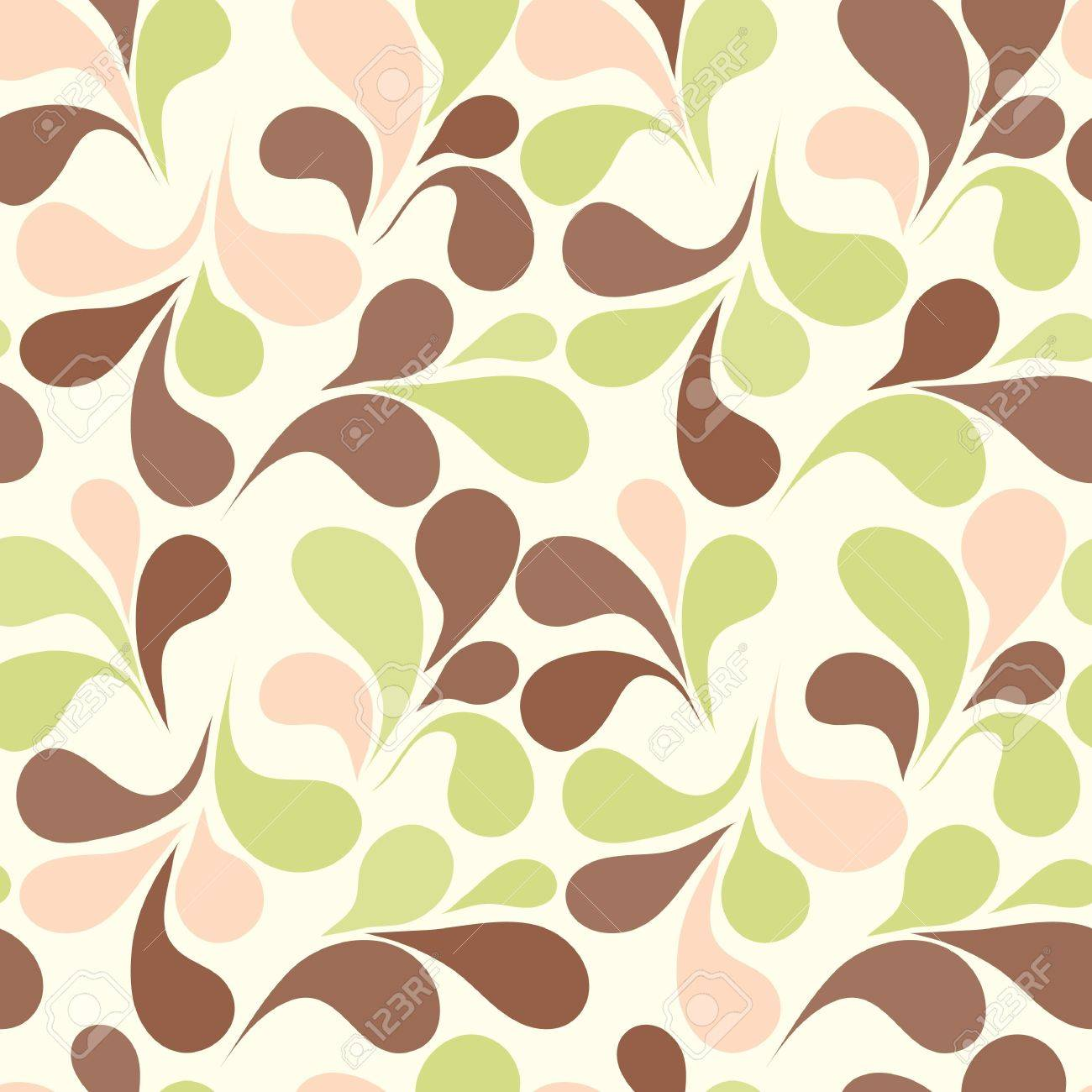 Seamless background with art leafs Stock Vector - 10336002
