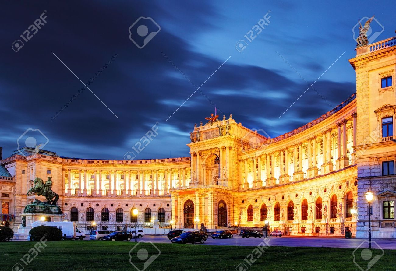 Vienna Hofburg Imperial Palace at night, Austria Stock Photo - 16585789