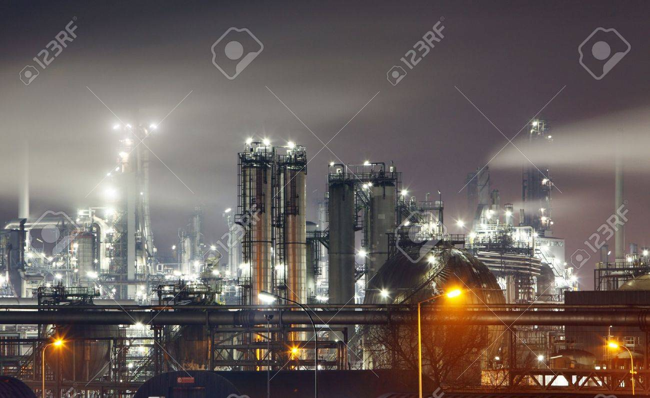 Petrochemical plant in night Stock Photo - 16590635
